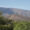 view of El Christo statue from afar